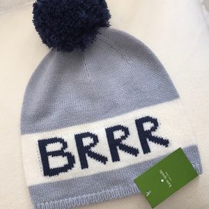 Free Gift w/ Purchase NWT Kate Spade brrr beanie